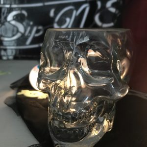 330ml Small Tiki Halloween Skull Glass