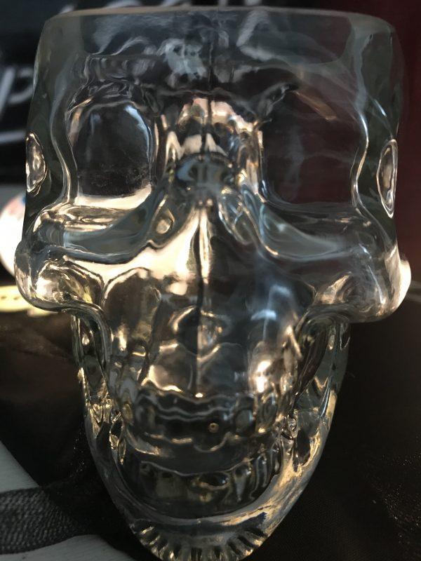 330ml Small Tiki Halloween Skull Glass